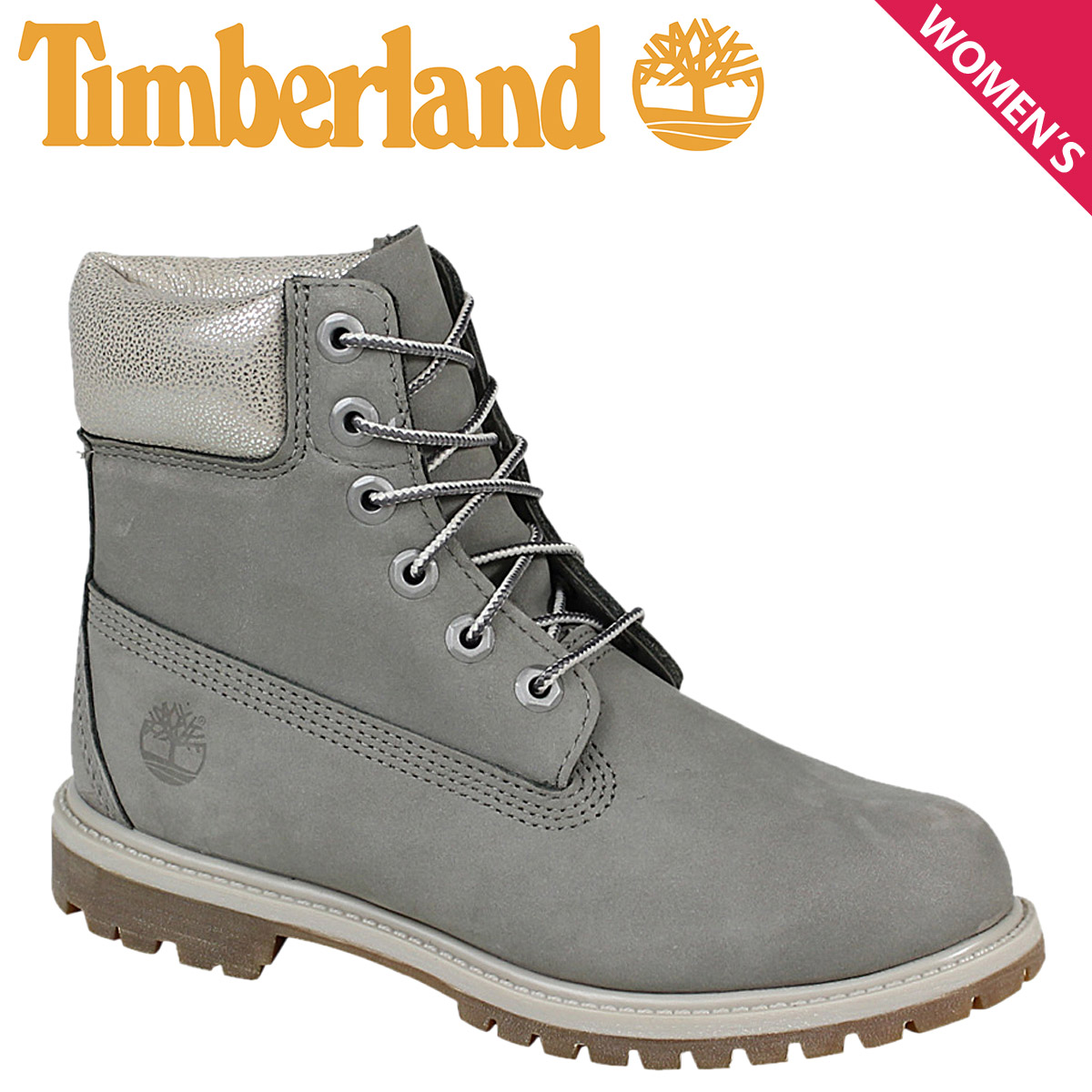 Women s Timberland Timberland 6 INCHI 6 inch premium boots JUNIOR 6-INCH  PREMIUM WATERPROOF BOOTS A196J W wise waterproof grey 9579980985