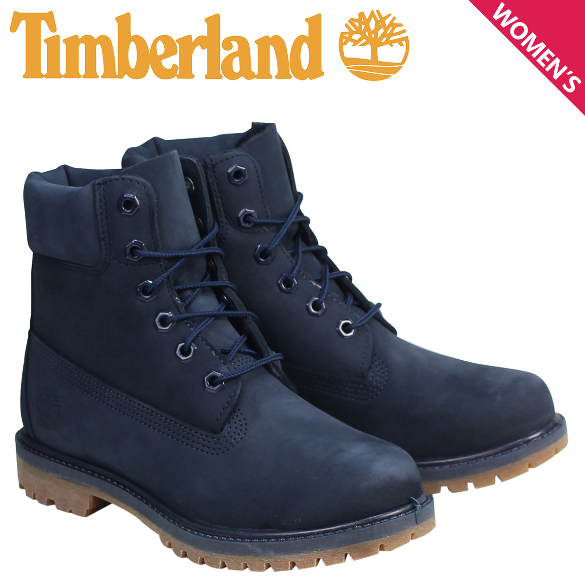 Timberland 6インチ レディース ティンバーランド ブーツ 6INCHI PREMIUM WATERPROOF BOOTS A1K41 Wワイズ 防水 ネイビー