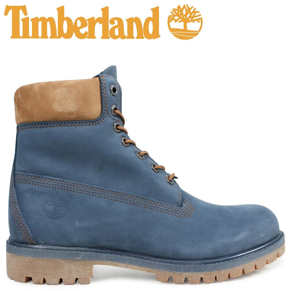 Timberland ブーツ メンズ 6インチ ティンバーランド 6INCH PREMIUM BOOT A1LU4 Wワイズ プレミアム 防水 ネイビー