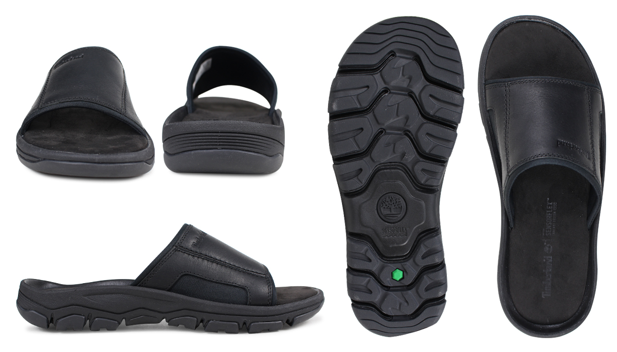 7004020a5b2 Timberland sandals men Timberland ROSLINDALE SLIDE SANDALS A1OWG M Wise  black  load planned Shinnyu load in reservation product 3 13 containing