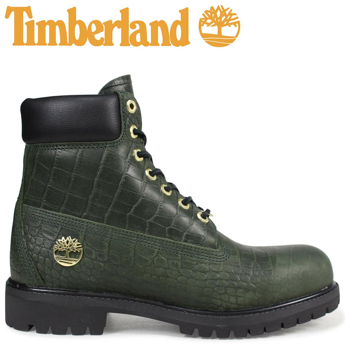 Timberland ブーツ メンズ 6インチ ティンバーランド 6INCH PREMIUM BOOT A1PIJ Wワイズ プレミアム グリーン