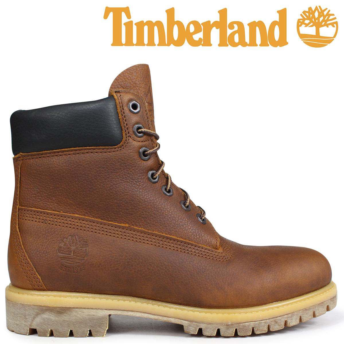 Timberland ティンバーランド ブーツ 6インチ メンズ HERITAGE 6-INCH PREMIUM BOOTS Wワイズ ブラウン A1R18 [3/19 追加入荷]