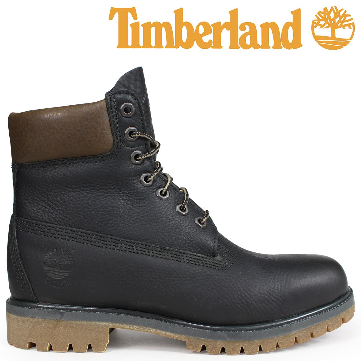 Timberland ブーツ メンズ 6インチ ティンバーランド HERITAGE 6-INCH PREMIUM BOOTS A1R1A Wワイズ ダークグレー