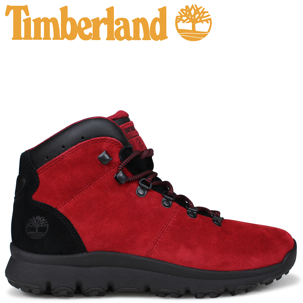 Timberland ブーツ メンズ ティンバーランド WORLD HIKER A1RBE Mワイズ ミディアムレッド