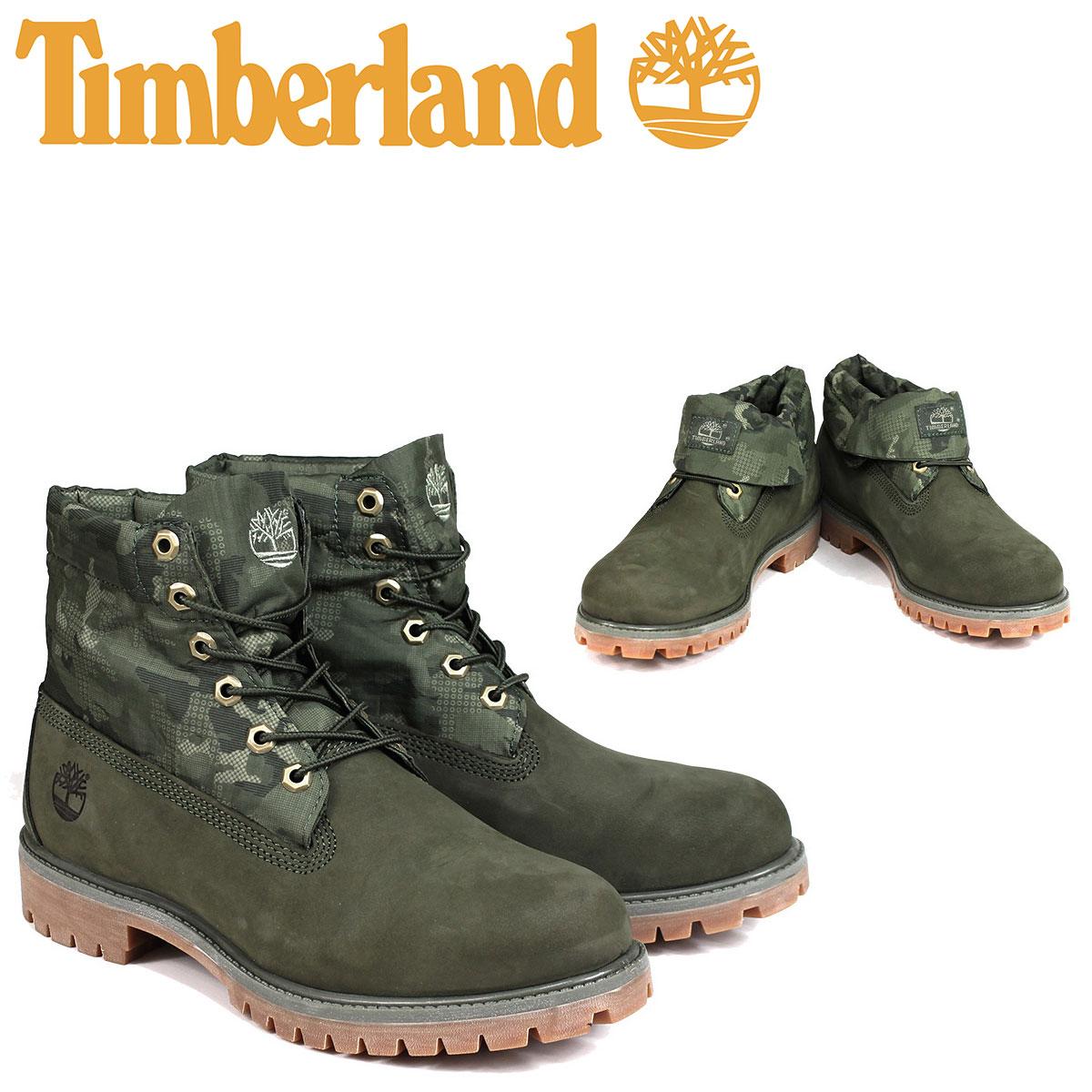 Timberland ブーツ メンズ ティンバーランド ROLL TOP A1RZD Wワイズ ロールトップ グリーン