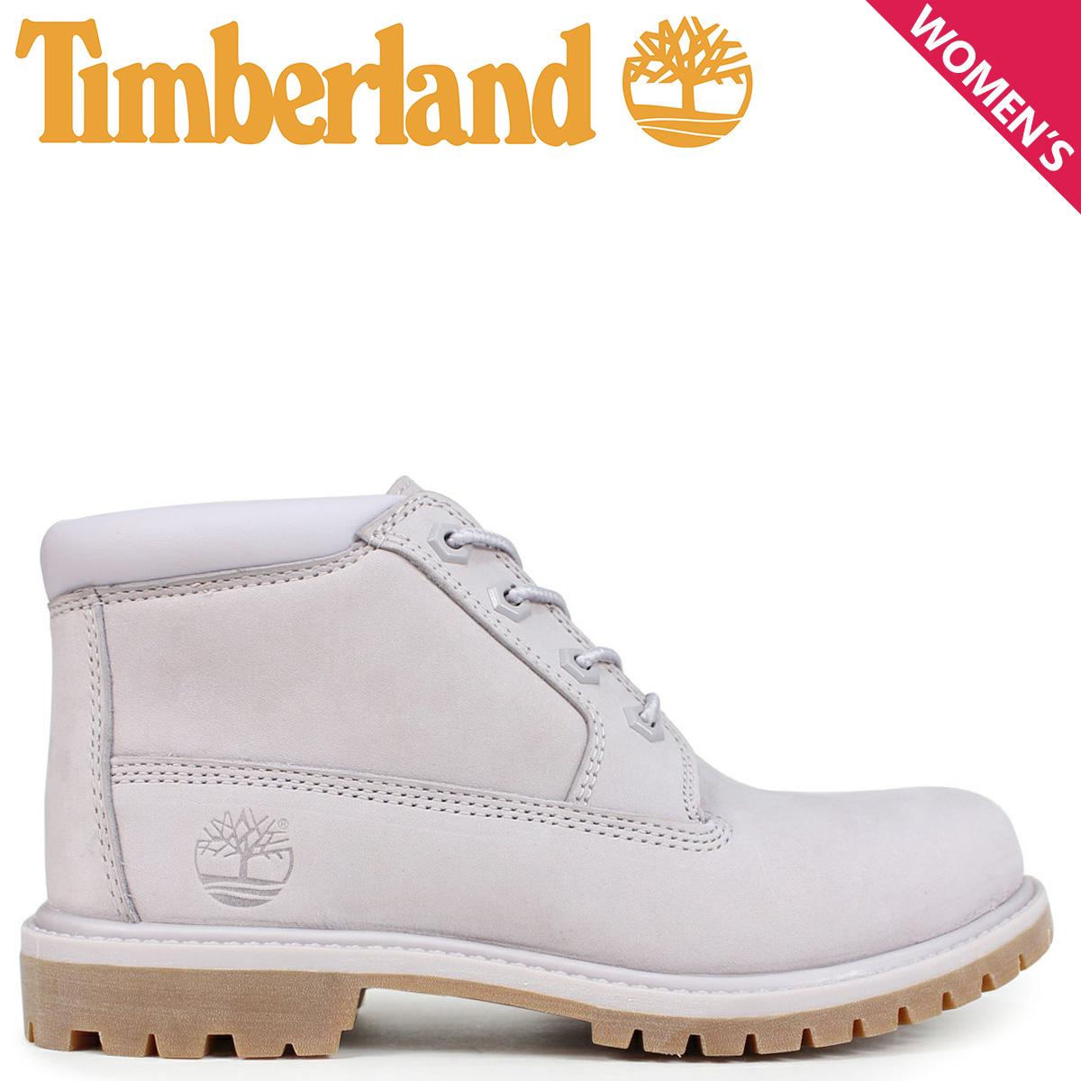 Timberland チャッカ レディース ティンバーランド ブーツ NELLIE CHUKKA DOUBLE A1S7R Wワイズ ライトグレー