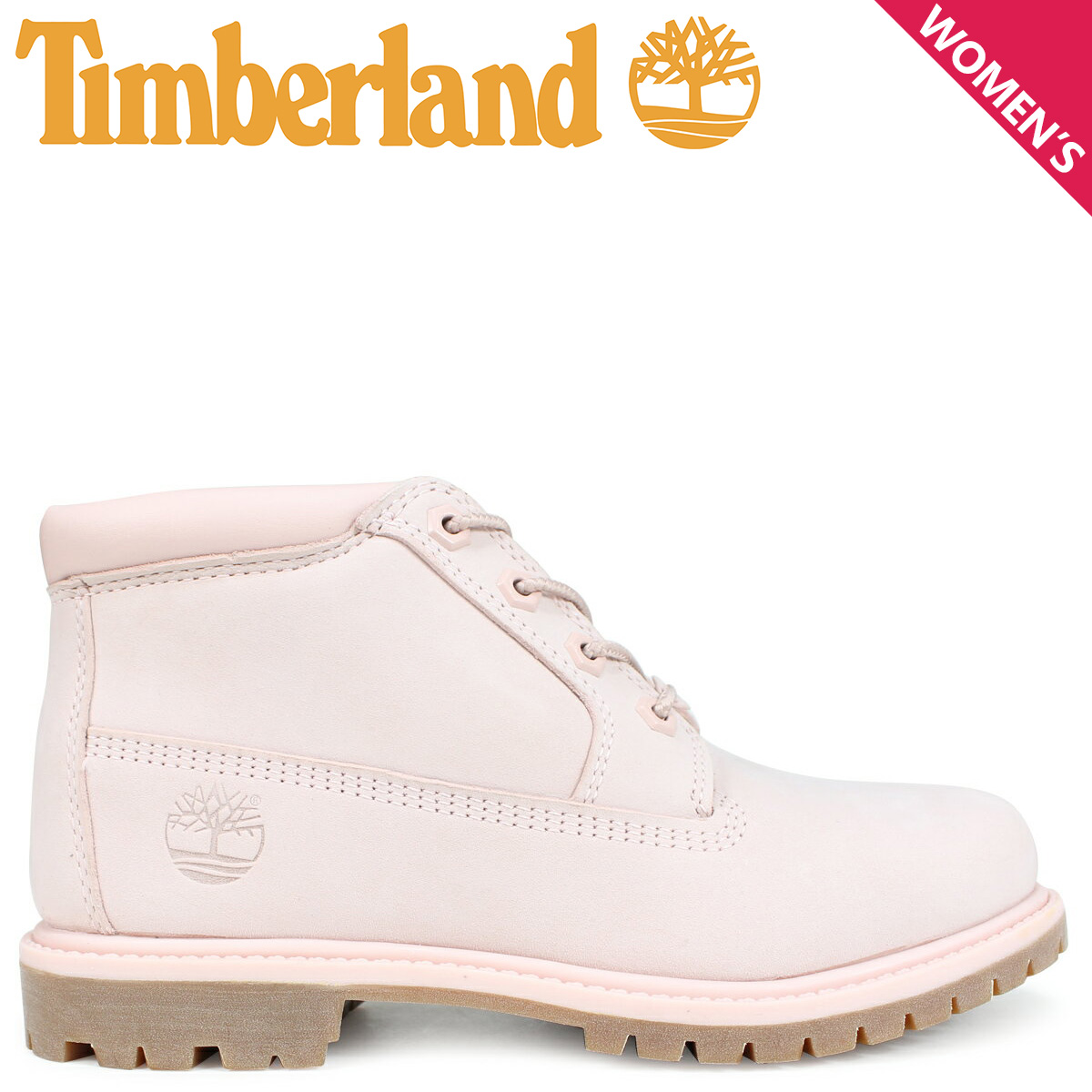 Timberland チャッカ レディース ティンバーランド ブーツ NELLIE CHUKKA DOUBLE A1S7S Wワイズ ライトピンク