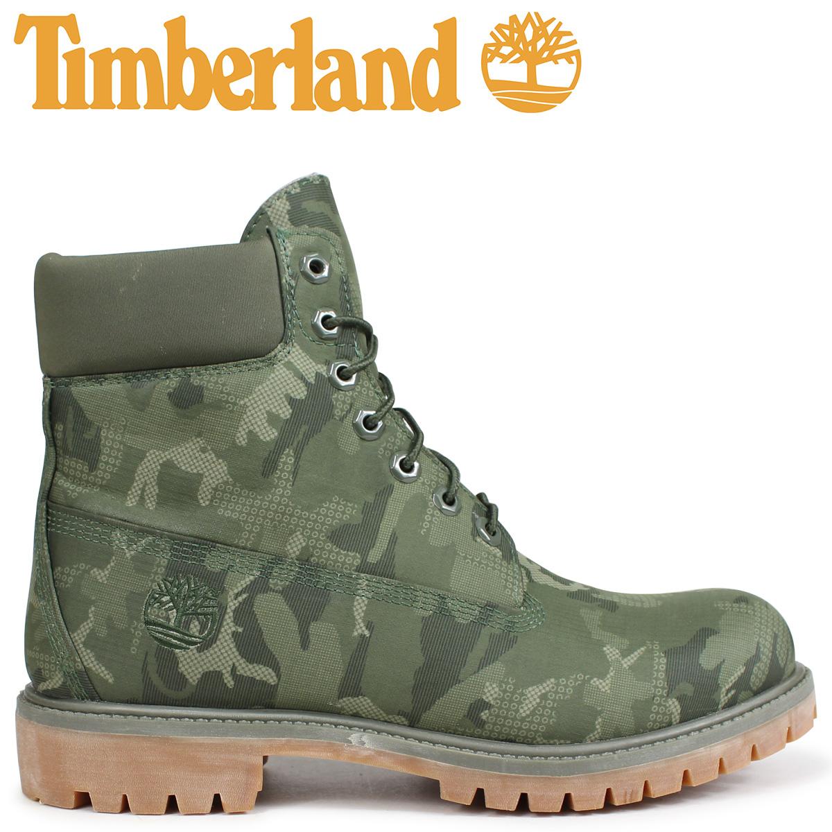 Timberland ブーツ メンズ 6インチ ティンバーランド 6-INCH PREMIUM FABRIC BOOTS A1U9I Wワイズ ダークグリーン [9/5 新入荷]