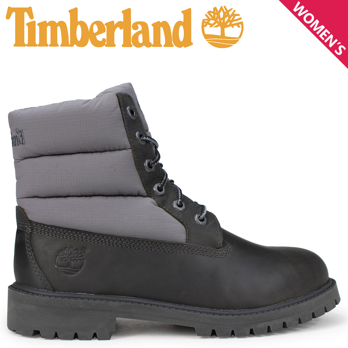 Timberland 6 inch Premium Waterproof Junior's Grey Leather