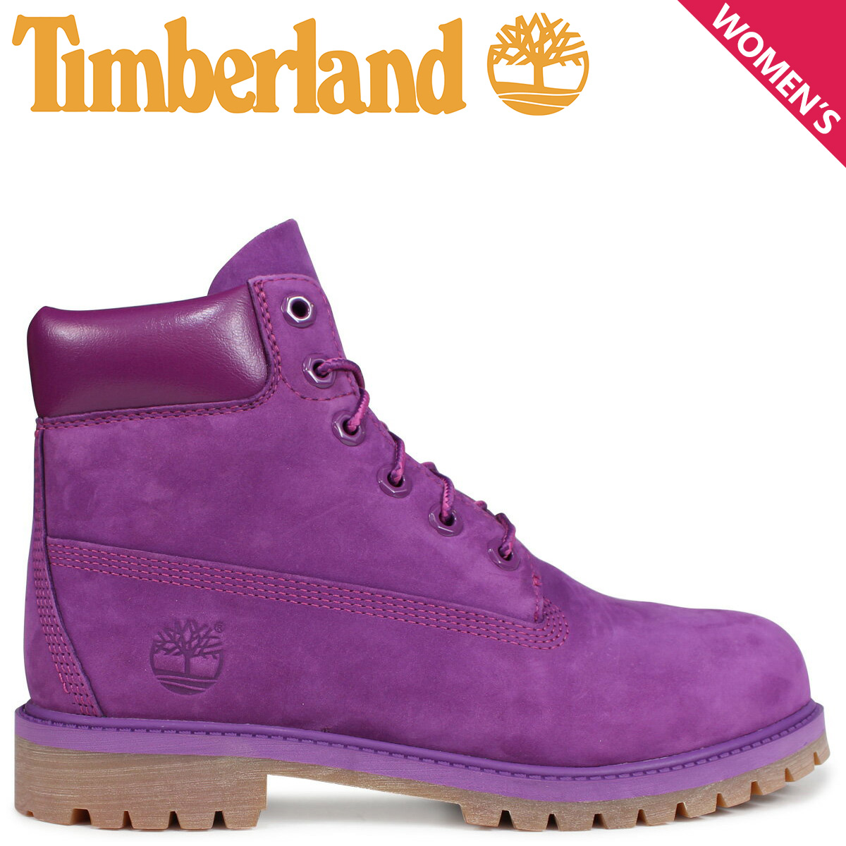 Timberland レディース ブーツ 6インチ ティンバーランド キッズ JUNIOR 6INCHI PREMIUM WATERPROOF BOOT A1VAZ Wワイズ 防水 パープル