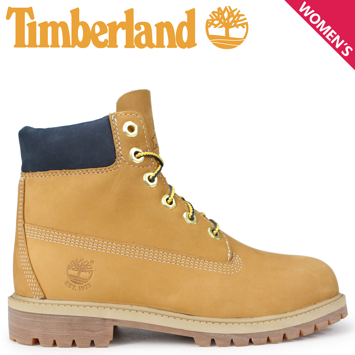7be988274e0 Timberland boots Lady's 6 inches Timberland kids JUNIOR 6-INCH PREMIUM  WATERPROOF BOOTS A1VE5 W ワイズウィート