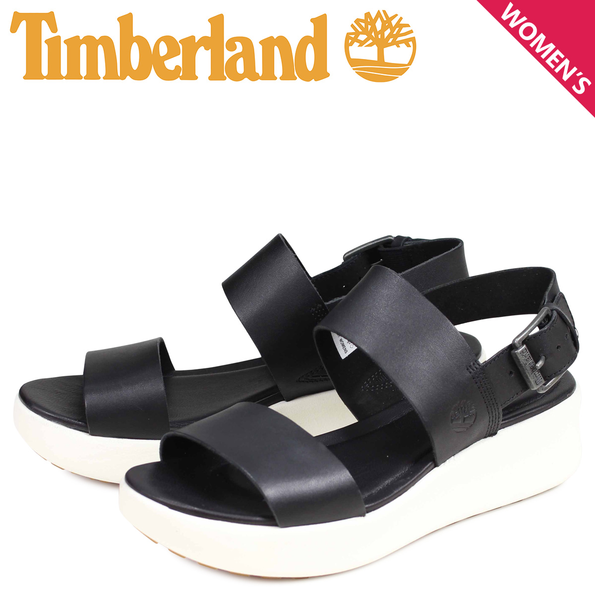 Timberland Timberland sandals strap sandals Lady's WOMENS LOS ANGELES WIND 2 SANDALS black black A1WX8015