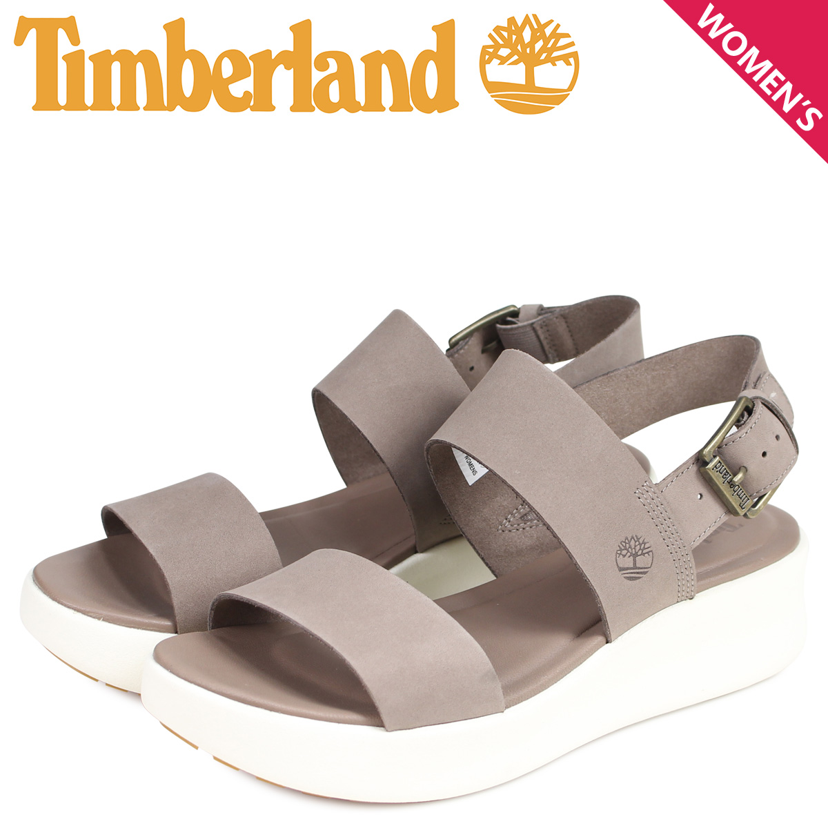 Timberland Timberland sandals platform sandals Lady's WOMENS LOS ANGELES WIND SANDAL light brown A1XW6929
