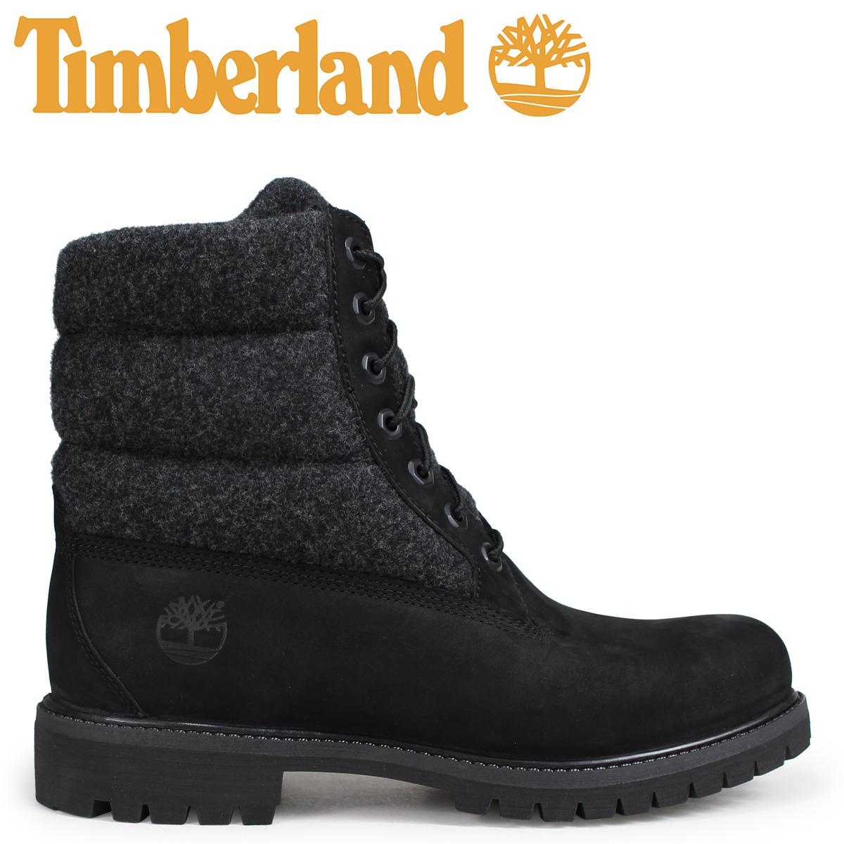 Timberland ブーツ メンズ 6インチ ティンバーランド 6-INCH PREMIUM PUFF BOOTS A1ZR6 Wワイズ ブラック 黒