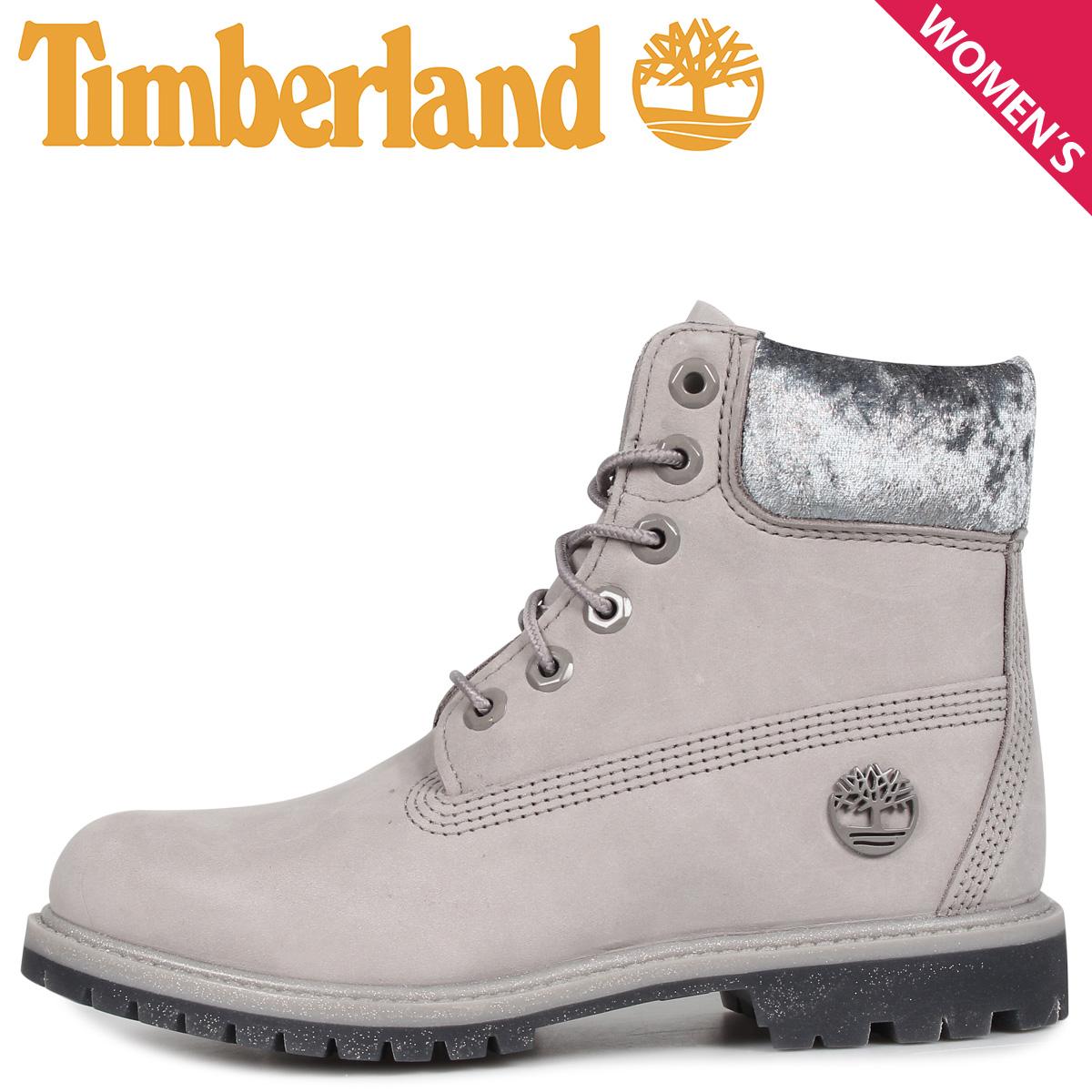 Timberland ティンバーランド ブーツ 6インチ ウォータープルーフ レディース WOMENS ICON 6INCH F/L WATERPROOF BOOTS グレー A231F