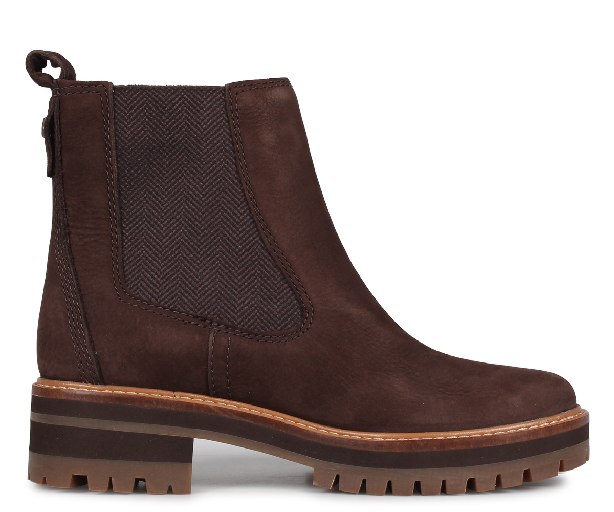 Timberland Timberland boots Lady's Chelsea side Gore cool Maillol valley WOMENS COURMAYEUR VALLEY CHELSEA BOOTS dark brown A23WU [913 Shinnyu load]