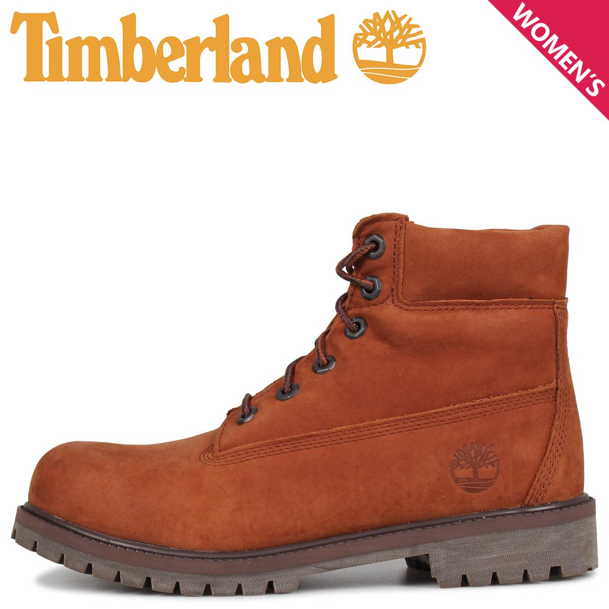 Timberland ティンバーランド ブーツ レディース 6インチ プレミアム JUNIOR 6INCH PREMIUM WATERPROOF BOOT ブラウン A2BKM