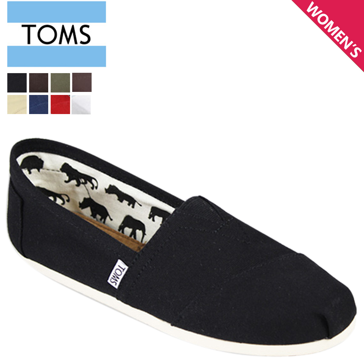 Sugar Online Rakuten Global Market Toms Shoes Women S Slip On 001001b Classics Cotton 2018 New