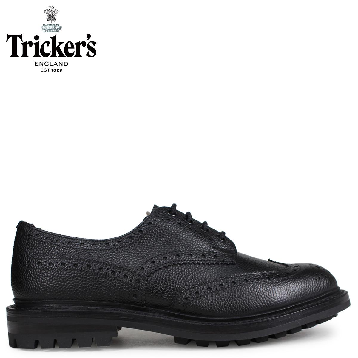 Trickers トリッカーズ ウイングチップ シューズ ILKLEY 5ワイズ メンズ ブラック 黒 3087