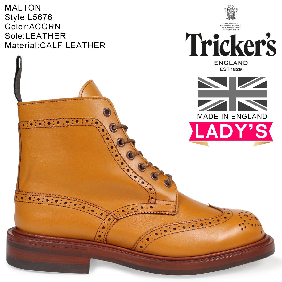 Trickers トリッカーズ レディース カントリーブーツ STEPHY L5676 4ワイズ ライトブラウン