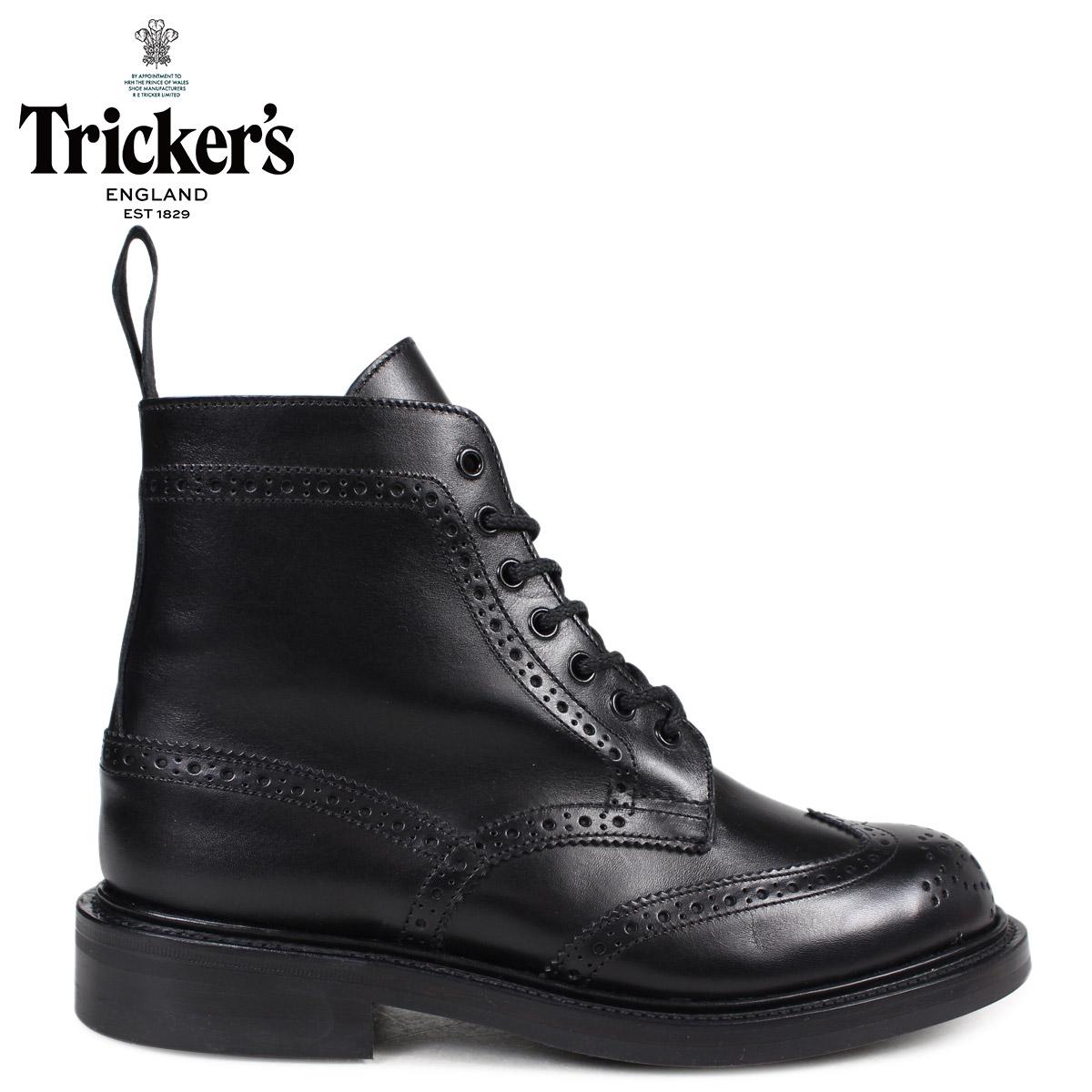 Trickers トリッカーズ レディース カントリーブーツ STEPHY L5676 4ワイズ ブラック 黒