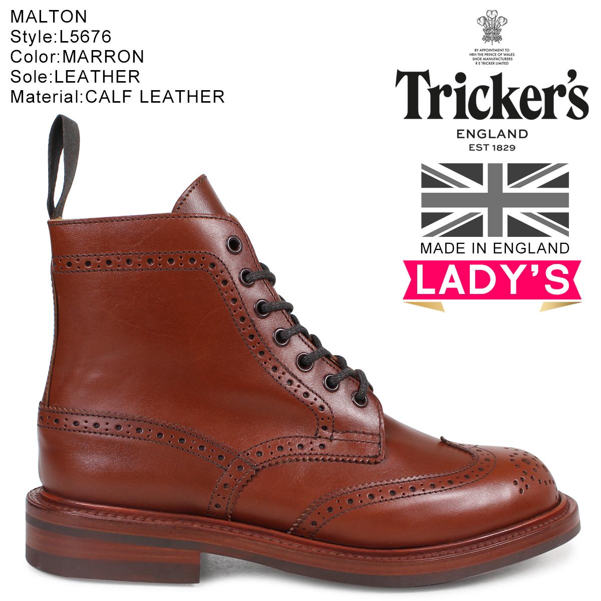 Trickers トリッカーズ レディース カントリーブーツ STEPHY L5676 4ワイズ ダークブラウン