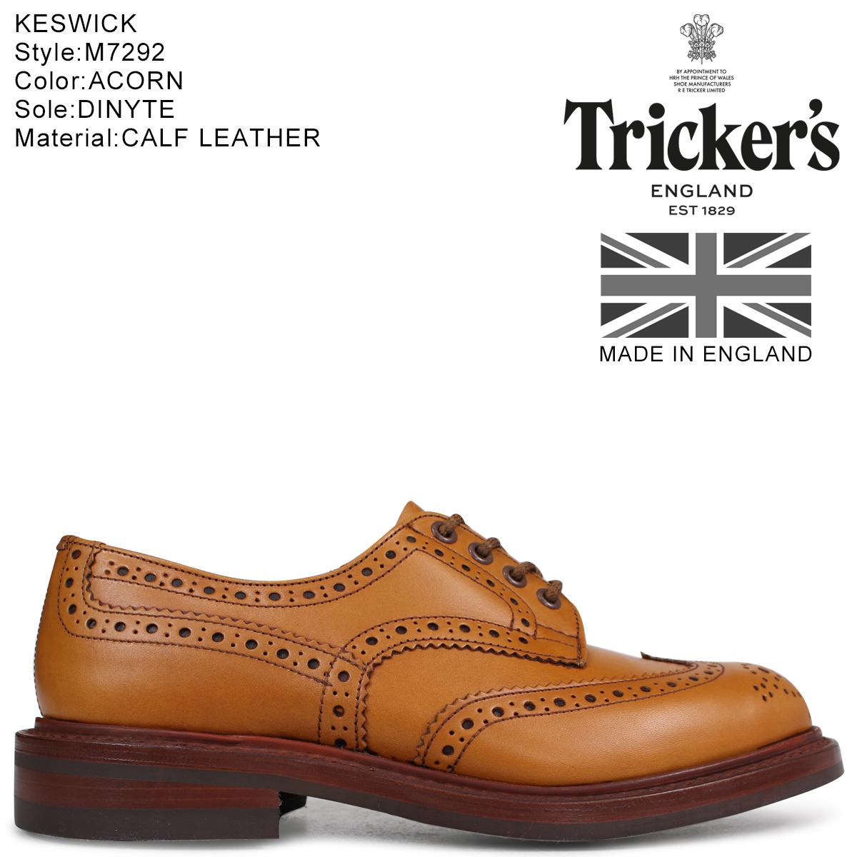 大割引 Tricker's トリッカーズ メンズ ウイングチップ シューズ KESWICK M7292 シューズ M7292 5ワイズ メンズ ブラウン, イーカプコン:3b17db94 --- business.personalco5.dominiotemporario.com