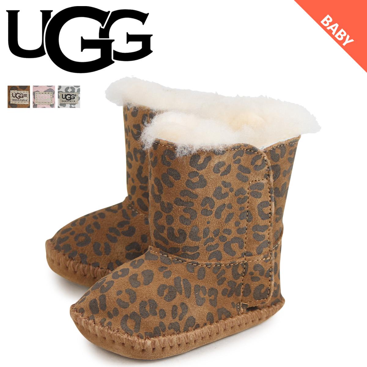 アグ UGG ベビー カシー レオパード ムートンブーツ INFANTS CASSIE LEOPARD 1001781 シープスキン ベビー靴 キッズ