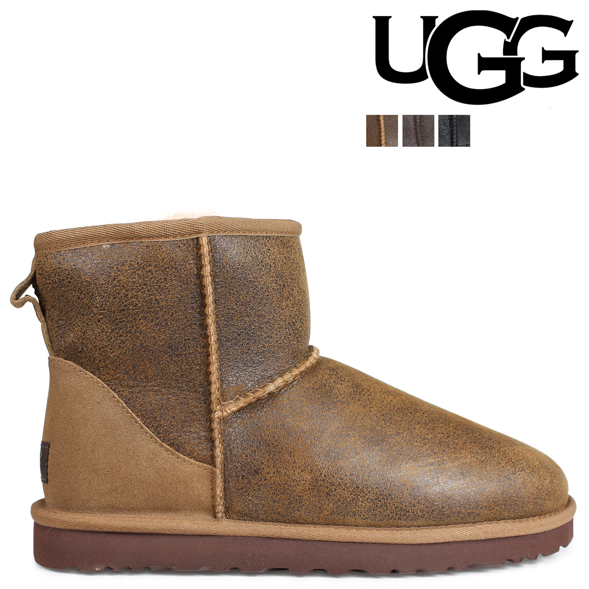 9911b9b71d3 アグ UGG men classical music mini-mouton boots MENS CLASSIC MINI BOMBER  1007307 sheepskin