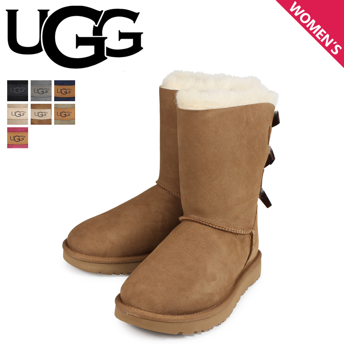 7c066b0ce06 アグ UGG mouton boots mini-Bailey bow tie 2 WOMENS MINI BAILEY BOW II 1016225  Lady's
