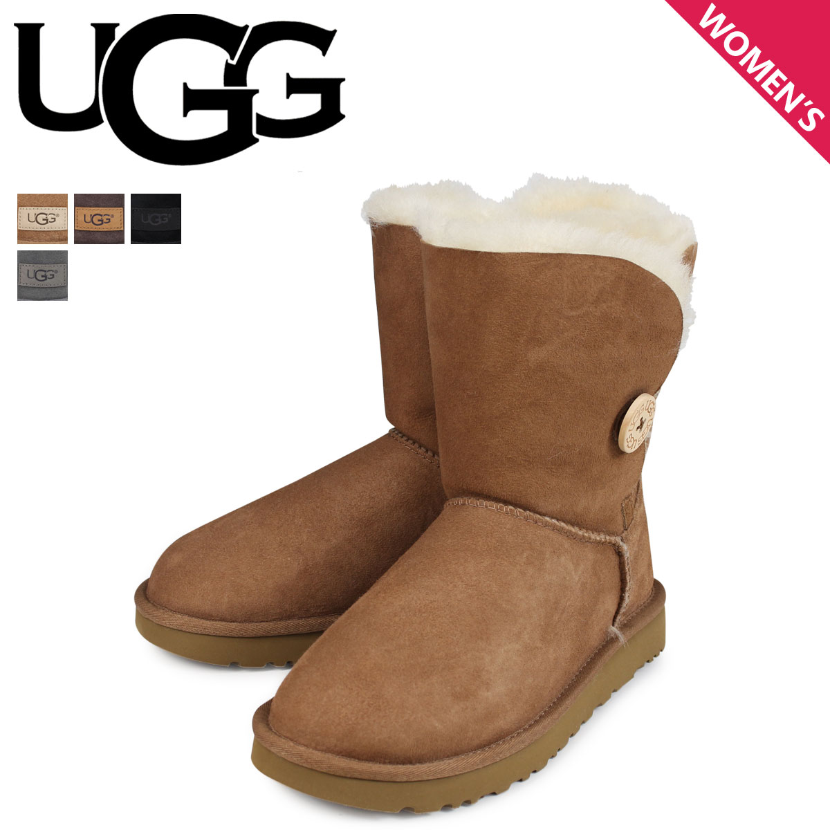 1caddc216f8 アグ UGG mouton boots Bailey button 2 Lady's WOMENS BAILEY BUTTON II 1016226