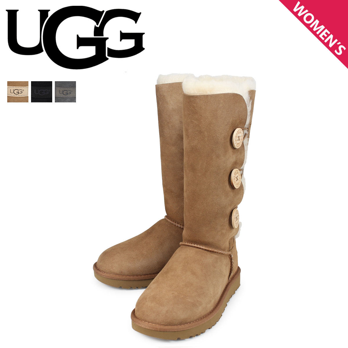 d406b4acc49 アグ UGG mouton boots Bailey button 2 Lady's WOMENS BAILEY BUTTON TRIPLET II  1016227