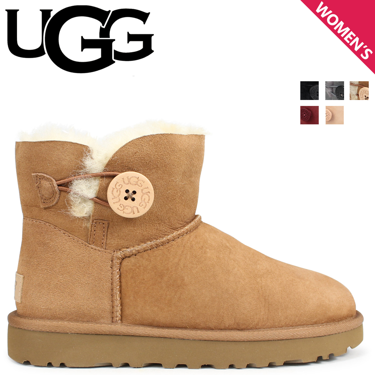 4dd18b6c5e2 アグ UGG mouton boots mini-Bailey button MINI BAILEY BUTTON II 1016422 Lady's