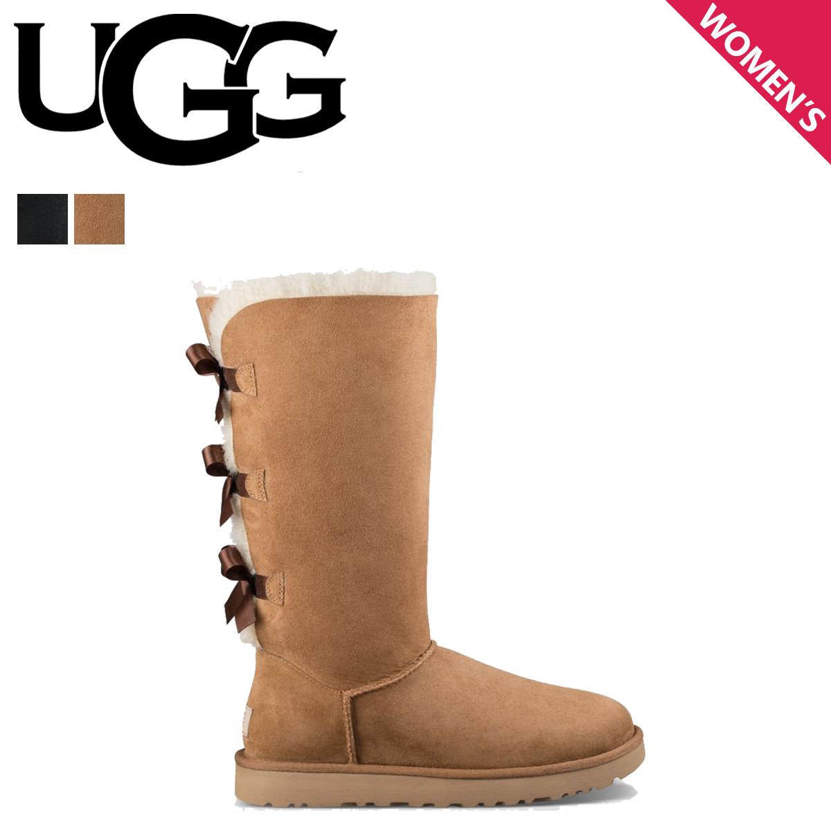 67dba0be6d6 アグ UGG mouton boots Bailey bow tie 2 WOMENS BAILEY BOW TALL II 1016434  Lady's