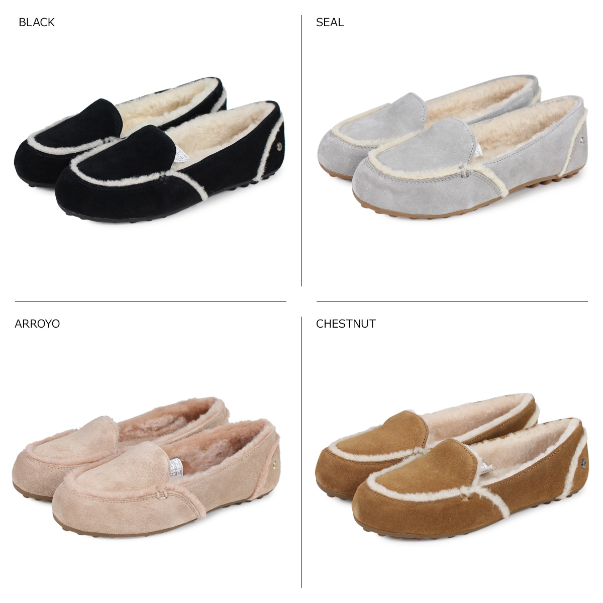 c75cd377207 アグ UGG slip-ons Haley Lady's mouton sheepskin WOMENS HAILEY black black  gray brown 1020029