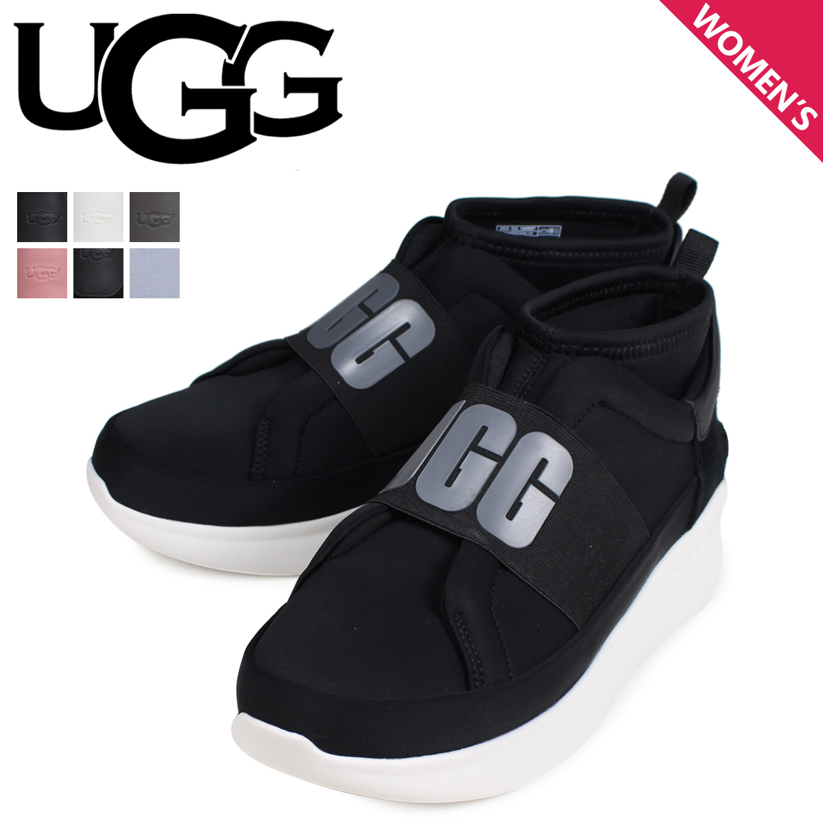 ad9c9613365 アグ UGG sneakers slip-ons current style Lady's WOMENS NEUTRA SNEAKER black  off-white gray pink blue black 1095097 [the 7/12 additional arrival]