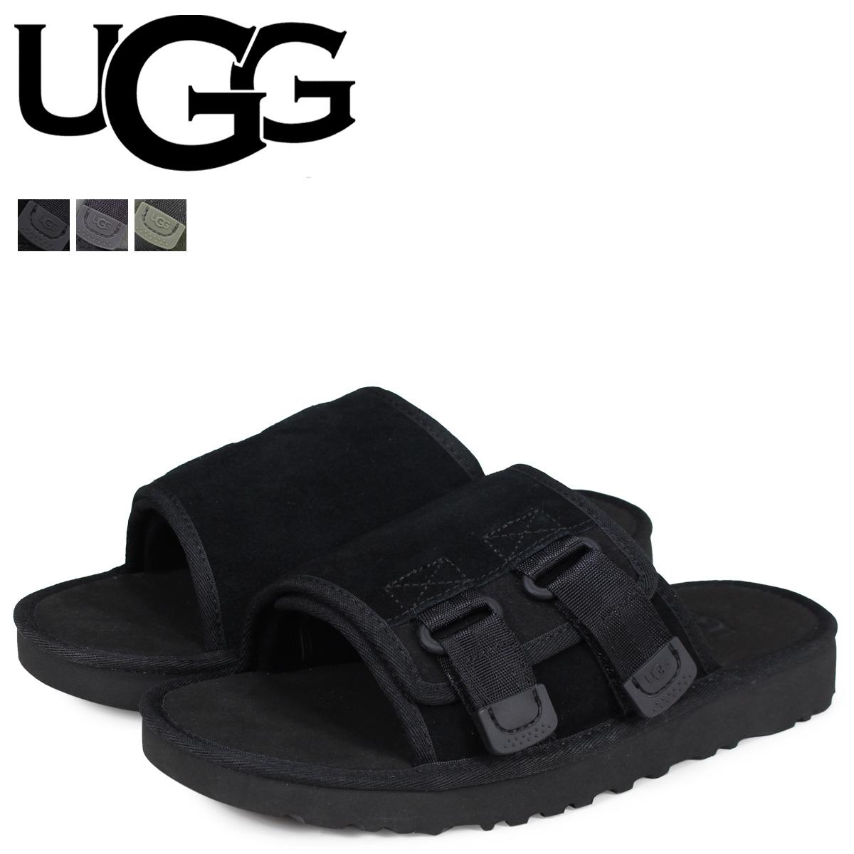 2d889f63b39c12 アグ UGG sandals dune slide men MENS DUNE SLIDE SANDAL black black gray green  1099752 ...