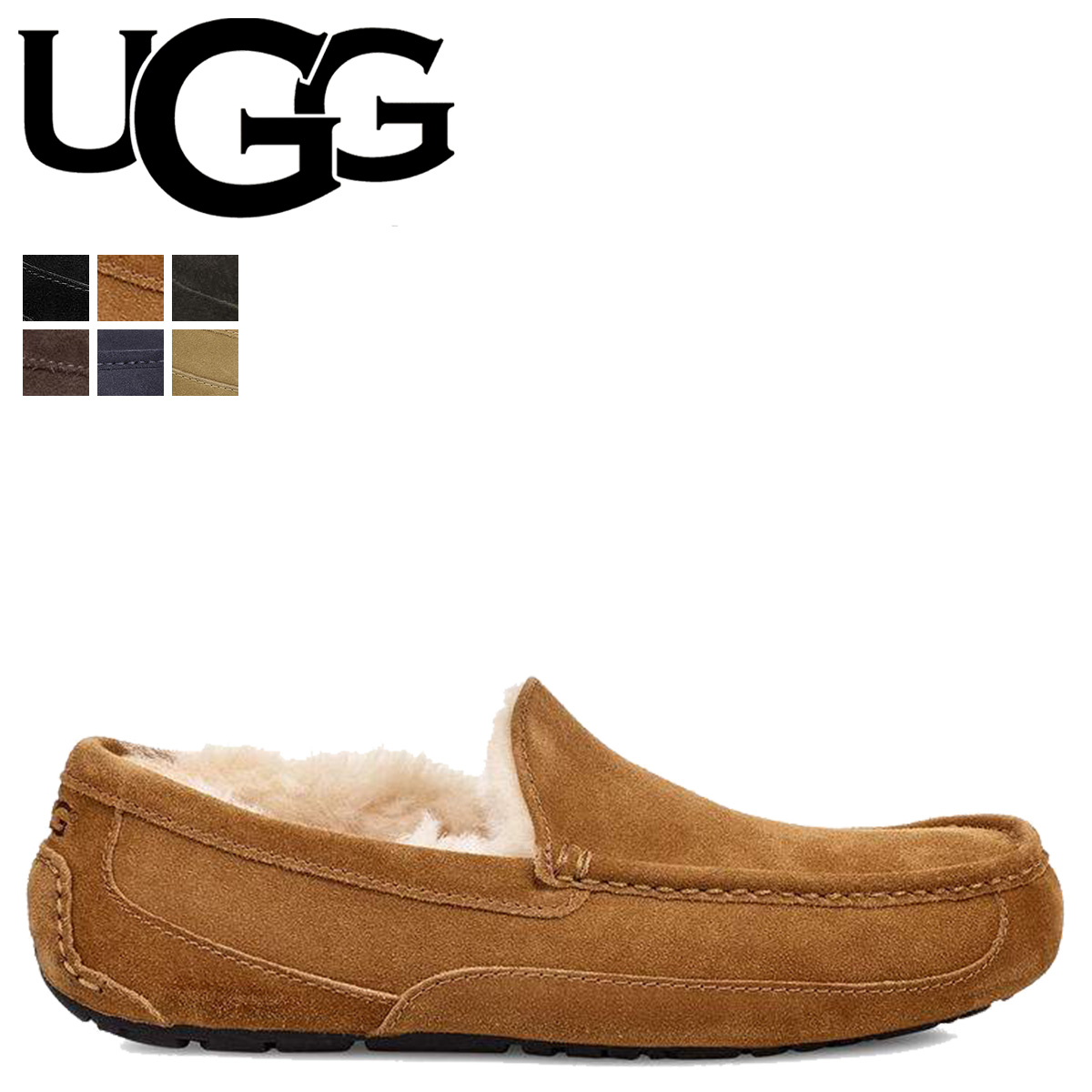 bd57193713f アグ UGG slip-ons moccasins Ascot shoes men mouton MENS ASCOT 1101110 [the  7/6 additional arrival]