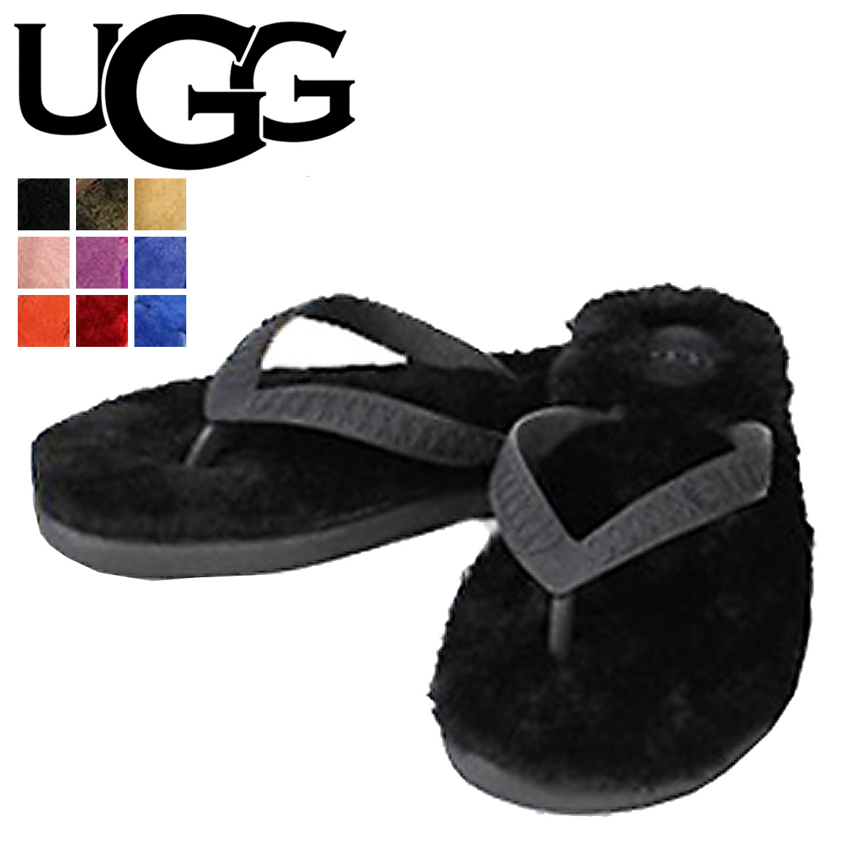 Fluffy Sandals 1684, UGG UGG women's FLUFFIE WOMENS ladies Shearling Sheepskin
