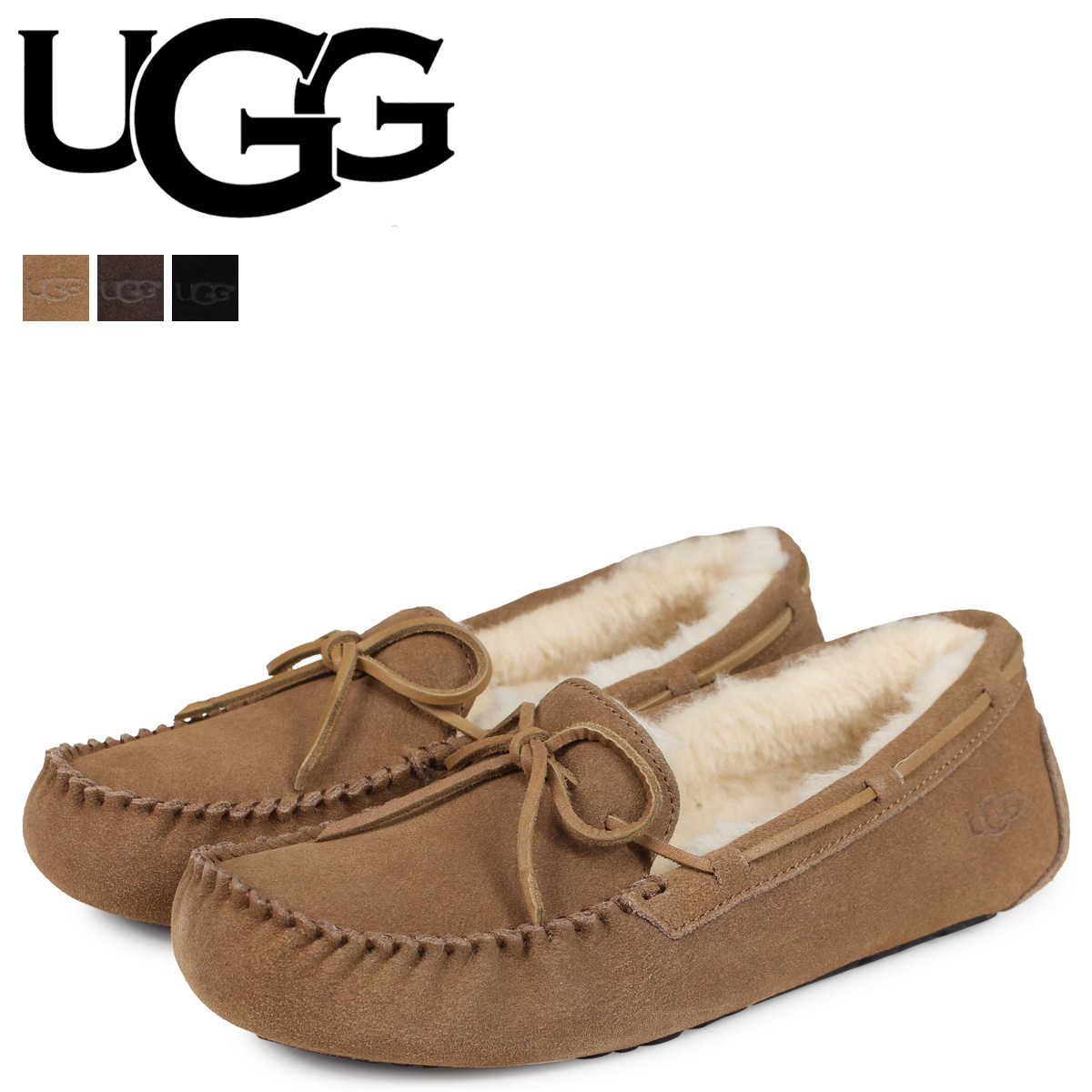 62447082dc3 アグ UGG moccasins men mouton shoes Olsen MENS OLSEN 1003390 black black  brown beige [the 7/6 additional arrival]