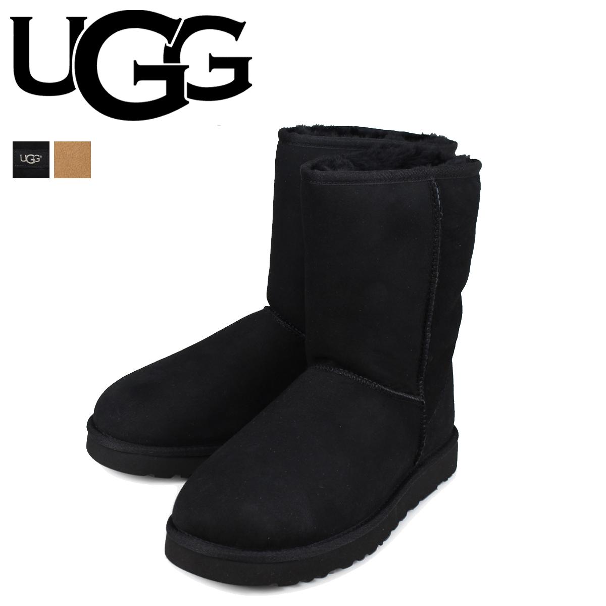 アグ UGG ムートンブーツ メンズ クラシック ショート MENS CLASSIC SHORT 5800 ブラック シープスキン