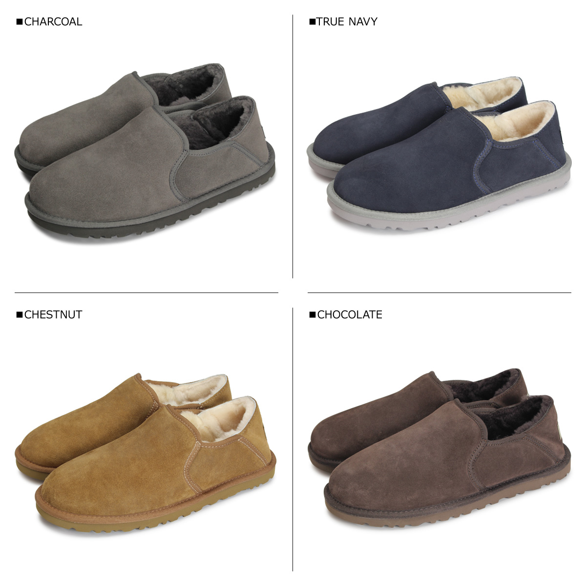83adb84b731 アグ UGG slip-ons slippers shoes Ken ton men KENTON gray brown navy 3010  [7/19 Shinnyu load]