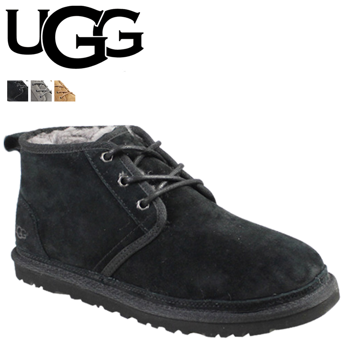 Point 2 x UGG UGG mens new Mel boots MENS NEUMEL Shearling Sheepskin 2014 years new 3236 3 color [11 / 26 new stock] [regular] 02P30Nov14