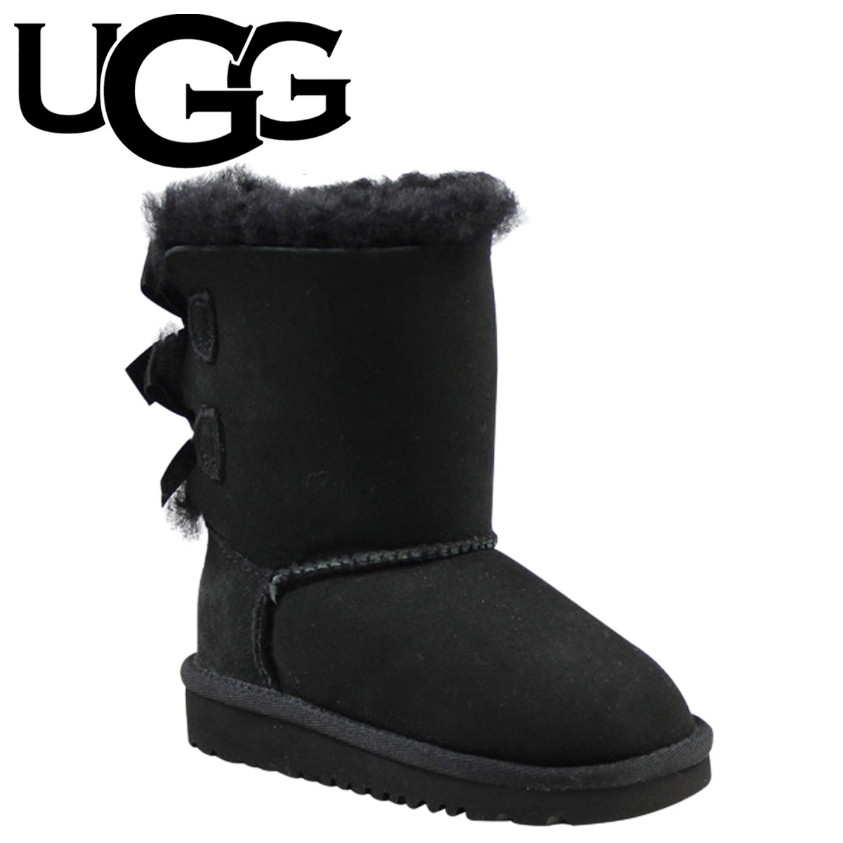 Point 2 x UGG UGG baby kids Bailey bow boots TODDLER BAILEY BOW Shearling Sheepskin junior kids 3280T black [1 / 31 new in stock] [regular] 02P08Feb15