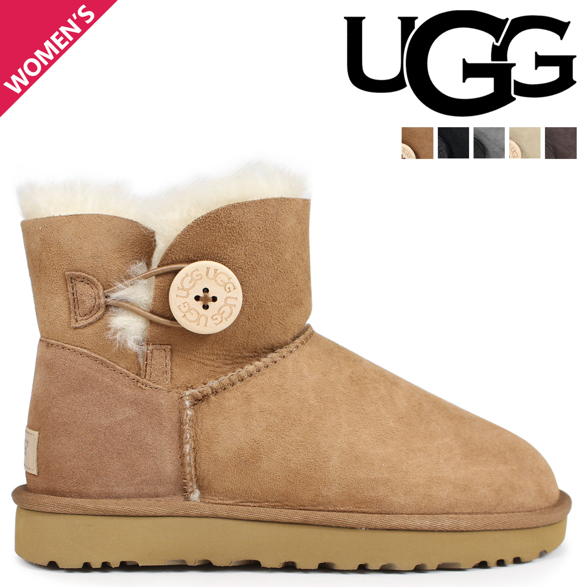 8a4906d567a アグ UGG boots mouton boots mini-Bailey button 2 Lady's 3352 1016422 WOMENS  MINI BAILEY BUTTON 2
