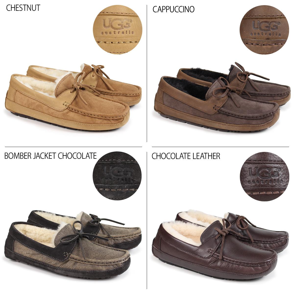 78a73ef0590 アグ UGG men Byron moccasins mouton slip-on shoes MENS BYRON 5102 5,102A 5161  1001545 sheepskin
