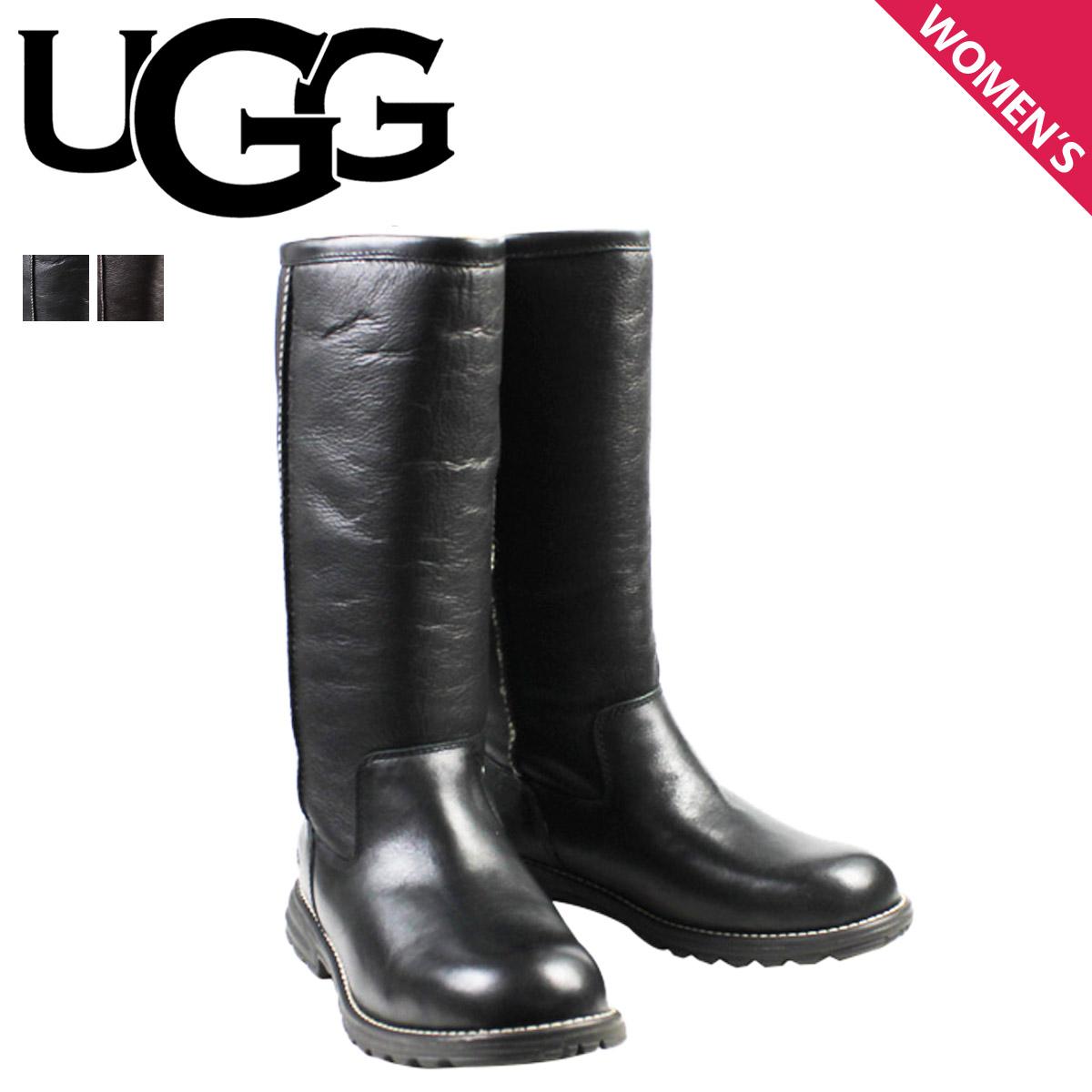 ugg tall black boots womens