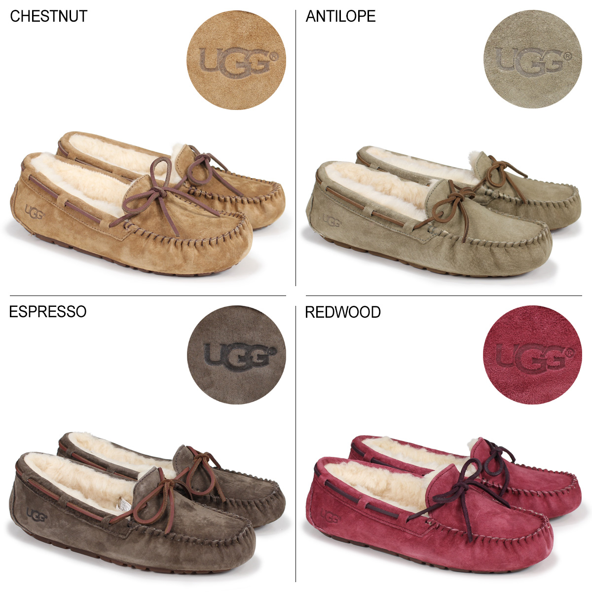 b4d6d3d68f8 アグ UGG moccasins Dakota mouton shoes Lady's sheepskin WOMENS DAKOTA 5612  [the 7/6 additional arrival]