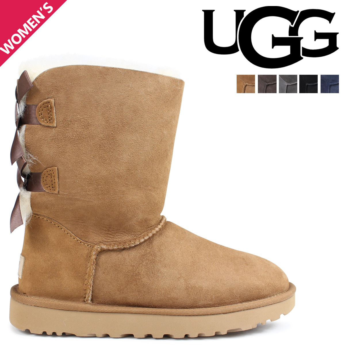 e6428e19281 アグ UGG boots mouton boots Bailey bow tie 2 Lady's WOMENS BAILEY BOW II  1002954 1016225