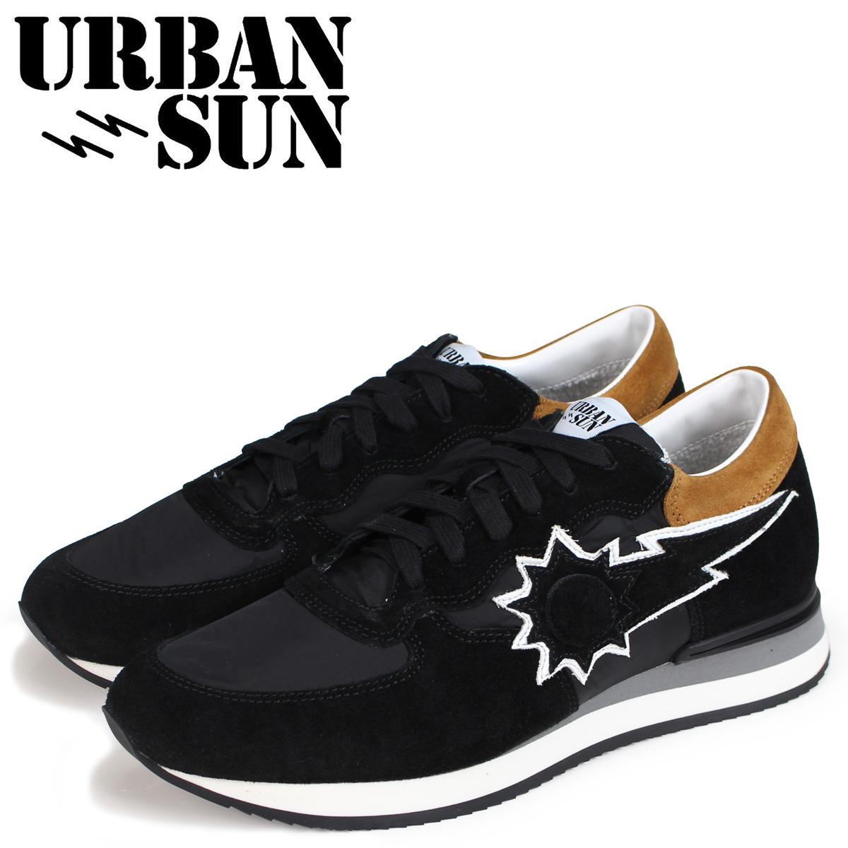 URBAN SUN アーバンサン アレイン スニーカー メンズ ALAIN ブラック 黒